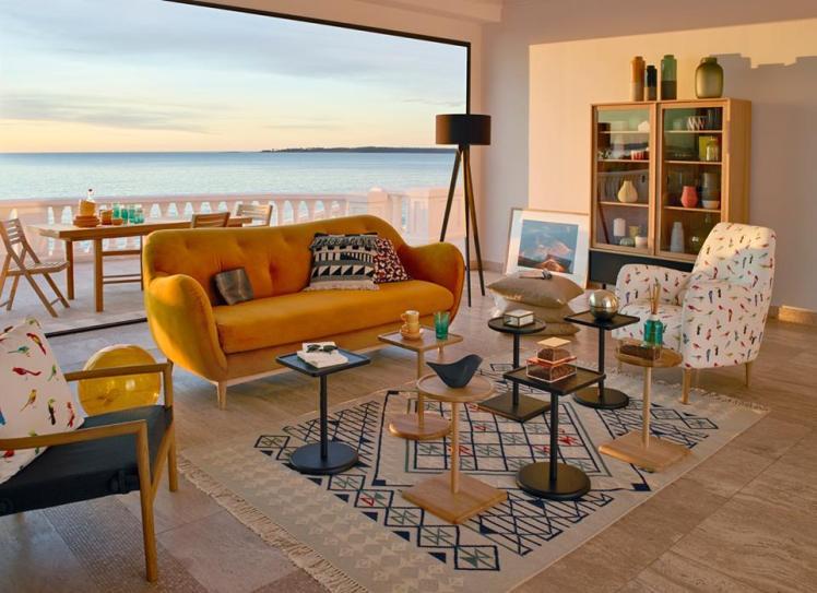habitat salón con vistas